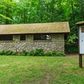 Restrooms on north end of the campground.- Mount Ascutney State Park Campground