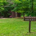 Entering the southern campground loop.- Mount Ascutney State Park Campground
