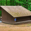 There is one handicap-accessible lean-to with a ramp.- Mount Ascutney State Park Campground