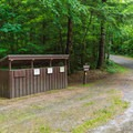 Recycling containers and dumpsters are at the entrance/exit of the southern loop.- Mount Ascutney State Park Campground