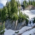 Some of the waterfalls along the trail.- Mount Timpanogos Backcountry Tour