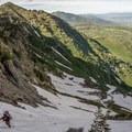Booting up Aspen Grove.- Mount Timpanogos Backcountry Tour
