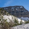 First views of the summit.- Mount Timpanogos Backcountry Tour