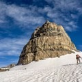 Skinning past Roberts Horn.- Mount Timpanogos Backcountry Tour
