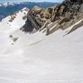 Nearing the summit of the Timpanogos Glacier.- Mount Timpanogos Backcountry Tour