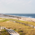 An elevated view of part of the 6-mile beach.- Delaware Seashore State Park