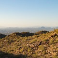 Downtown Phoenix seen from the start of the hike.- Fat Man's Pass via National Trail