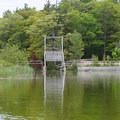 A river gate controlling access.- Lower Platte River: M-22 Bridge to Lake Michigan