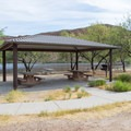 One of the picnic shelters at Palo Verde.- Palo Verde Recreation Site