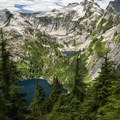 View of Thornton Lakes.- North Cascades National Park