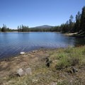 Wickiup Reservoir viewed from North Davis Creek Campground.- North Davis Creek Campground