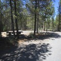 A site closer to the road.- North Davis Creek Campground