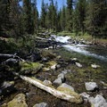 Waterfall at North Davis Creek.- North Davis Creek Campground