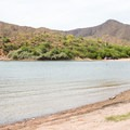 A cove and boat ramp at Upper Burnt Corral.- Upper Burnt Corral Recreation Site