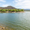 Looking across the cove at Burnt Corral Campground.- Upper Burnt Corral Recreation Site
