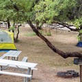 Typical campsite at Burnt Corral Campground.- Burnt Corral Campground