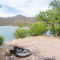 Lakeside real estate! There are many sites like this at Burnt Corral Campground.- Burnt Corral Campground