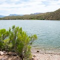 Views for miles over Apache Lake.- Burnt Corral Campground