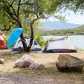 Try to claim a spot right at the water's edge.- Burnt Corral Campground