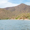 Apache Lake is great for boating and fishing.- Burnt Corral Campground