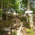 The steps to the Lonesome Lake AMC Hut.- Lonesome Lake AMC Hut
