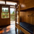 Looking out at the incredible views from the rooms.- Lonesome Lake AMC Hut