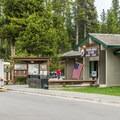 The campground office.- Fishing Bridge RV Park