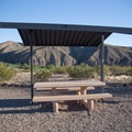 Nice tables and ramadas offer modest shade.- Riverview Campground