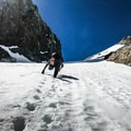 Sit back and enjoy 1,200 feet of 45-degree slope snow climbing!- Mount Dana Couloir