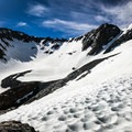 After a deceptively strenuous approach, the Dana Couloir comes into full view.- Mount Dana Couloir