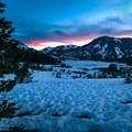 A proper alpine start ensures good snow conditions!- Mount Dana Couloir