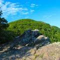 Looking at Stony Man summit from Little Stony Man Cliffs.- Stony Man via Little Stony Man Trail