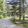 The campground entrance.- Croton Point Campground