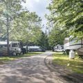 Roads leading to the RV hookup sites.- Croton Point Campground