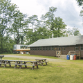 The lodge and picnic area.- Croton Point Campground