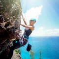 There are very few beginner climbs at Mokule'ia.- Mokule'ia Crag