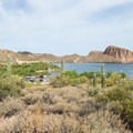 The view over Canyon Lake and Palo Verde Recreation Site.- Palo Verde Recreation Site