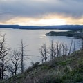 Looking west toward Fishing Bridge.- Lake Butte Overlook