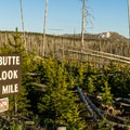 A road sign for the overlook.- Lake Butte Overlook
