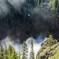 Early morning is a great time to visit the brink overlook.- Brink of Upper Yellowstone Falls