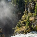 Looking down the falls.- Brink of Upper Yellowstone Falls