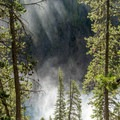 Brink of the upper falls.- Brink of Upper Yellowstone Falls