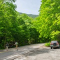 Limited parking can be found at Big Springs. The trailhead is south across the street and a little uphill.- Mount Mansfield via Hell Brook + Long Trails