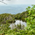 Lake of the Clouds seen from the trail.- Mount Mansfield via Hell Brook + Long Trails