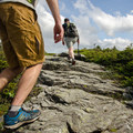 Most of the trail at this elevation is on rock in order not to harm or disturb the sensitive vegetation.- Mount Mansfield via Hell Brook + Long Trails