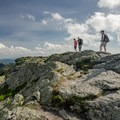 The summit of Mount Mansfield (4,395 ft), also known as the Chin.- Mount Mansfield via Hell Brook + Long Trails