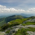 The view south from the summit. Camel's Hump (4083 ft) can be seen in the distance.- Mount Mansfield via Hell Brook + Long Trails