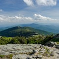 The view south from the summit.- Mount Mansfield via Hell Brook + Long Trails