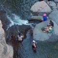 Plenty of shade can be found beneath the bridge.- Slide Rock Swimming Hole