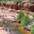 The creek is refreshing even on the hottest of days.- Slide Rock Swimming Hole
